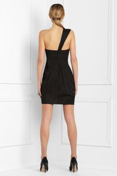 Glamorous Sheath/Column One-Shoulder Mini/Short Black Cocktail/Homecoming Dresses