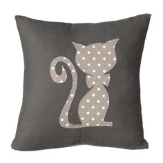 Cat Grey Cushion
