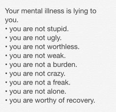 You are worthy of recovery ❤