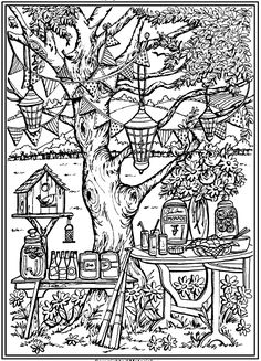 MAgic Garden Coloring Page For Adults