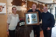 CONGRATULATIONS to Martin Lombaard and his team at Little Havana, Umhlanga Rocks - crowned as #TheWolftrapSteakChamp for 2015! Also in the picture, from left to right: Inge Hoffmann (The Wolftrap Sponsor) and Pete Goffe-Wood (Head Judge).