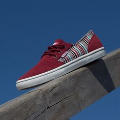 b81f9d98dc Sticky    Burgundy + Strips Pattern