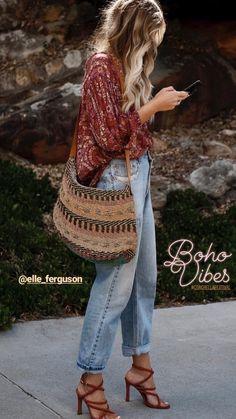 Look Hippie Chic, Estilo Hippie Chic, Boho Chic Style, Bohemian Winter Style, Hippie Style Summer, Bohemian Look, Mode Hippie, Mode Boho, Fashion Mode