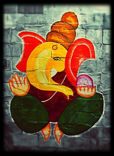 Ganeshji - My first attempt at wall painting :) by niksrocks