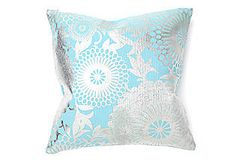 turquoise and silver throw pillow!