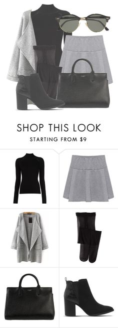 """Outfit #1549"" by lauraandrade98 on Polyvore featuring Misha Nonoo, WearAll, Yves Saint Laurent, Office and Ray-Ban"