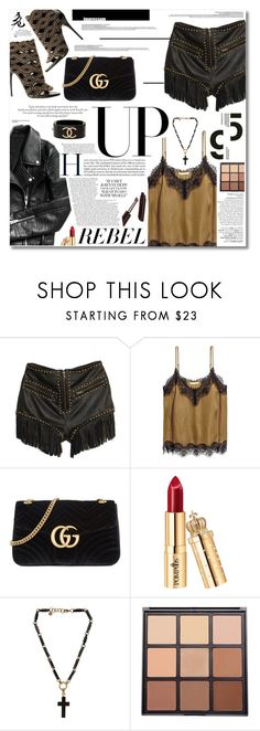 """""""Senza titolo #2101"""" by aanyaa ❤ liked on Polyvore featuring Understated Leather, Garance Doré, Avenue, Gucci, Emilio Pucci, Morphe and Chanel"""
