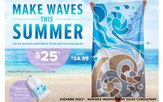 Make Waves this Summer with the Norwex Beach Towel during July