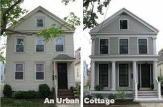 An Urban Cottage: Greek Revival Exterior Renovation - Before and After