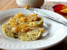 3 ingredient peach chia jam recipe - try with agave or different fruit
