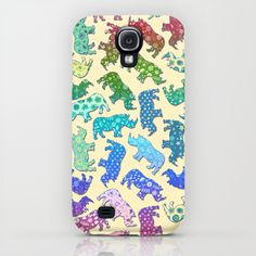 Rhino Patchwork Pattern - rainbow iPhone & iPod Case