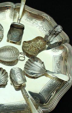 Silver Salad Serving Set Online Discount Antiques Mid-century Silver Craft Art Nouveau Style St