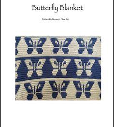 Mosiac Crochet Butterfly Digital Pattern Butterfly Blanket | Etsy