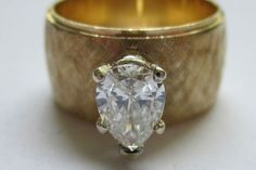 "Vintage Pear Cut Diamond Ring ""Artcarved"""