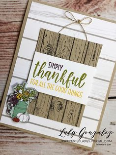 Painted Ladies Journal: Stampin Up Festive Farmhouse and Country Home stamp sets Home To Roost, Autumn Theme, Thanksgiving Cards, Fall Cards, Christmas Cards, Painted Ladies, Craft Fairs, Homemade Cards, Stampin Up