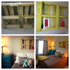 Pallet used in guest bedroom