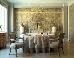 John Saladino dining room.