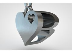 Heart letter pendant. Letter can be changed to what ever letter. Designed in cinema 4d for 3D printing. This a render of the final model. Hasn't been printed yet. The looks of the Final printed model depends on chosen material.. Gold, silver, stainless steel or one of the many different materials on www.shapeways.com TwinArt, making products personal.