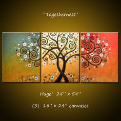 Original Large Abstract Painting Modern by AmyGiacomelli on Etsy, $390.00