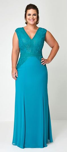 Chaps dresses at Kohl's - Shop our entire selection of women's dresses, including this Chaps Embellished Faux-Wrap Evening Gown, at Kohl's. Kohls Dresses, Nice Dresses, Formal Dresses, Plus Size Party Dresses, Plus Size Outfits, Curvy Fashion, Plus Size Fashion, Fashion Vestidos, Mothers Dresses