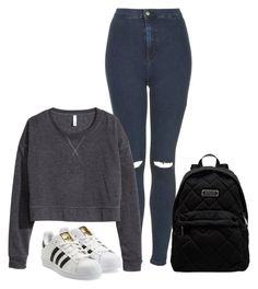 """Sin título #39"" by dreaminess ❤ liked on Polyvore featuring Topshop, H&M, adidas Originals, Marc by Marc Jacobs, women's clothing, women's fashion, women, female, woman and misses"