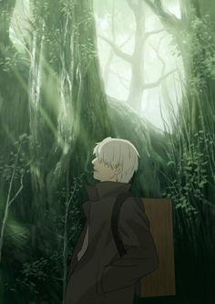 I put my friend to sleep watching this anime :3 - Mushi Shi