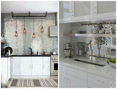 Znalezione obrazy dla zapytania płytki lustrzane w kuchni