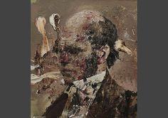 Andrian Ghenie jeune peintre roumain où la figuration est en conflt avec unes gestuelle abstraite et expressioniste. Adrian voit les geste pictural comme une texture révélatrice de ce qui se cache dans l'image figurée. More : http://www.artefields.net/?p=1983