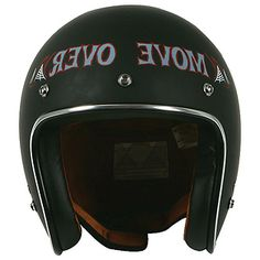 <b>Torc T-50 Route 66 Move Over Flat Black Open Face Helmet</b><br><br>- DOT approved<br><br>You're a core rider. What you ride is your lifestyle. What you wear should be the perfect compliment.  You want as little between you and the experience as you can get. The TORC T50 is your helmet. Throw back looks, classic feel, super-slim, open-face design with retro paint and custom graphics. Whether you ride a ratted out bobber, a café racer, a British throw back, or an American V-twin, the T-50…