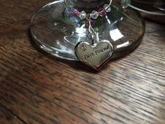 This beautiful Wine Glass Charm makes a lovely gift for one of your best friends - Set with a silver plated heart encrusted with a diamante and engraved with Best Friend - This is a lovely gift on it's own or could be added to a bottle of bubbly or a funky wine Glass <br><br>For customised colours t... Friends Set, Wine Glass Charms, Heart Charm, Heart Ring, Bubbles, Christmas Gifts, Charmed, Colours, Gift Ideas