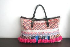 Sale 30  2 Ways Hmong Tote  Hip / Tribal / Hmong by dazzlinglanna, CHF109.00