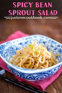 Spicy Bean Sprout Salad (ホットもやし) | Easy Japanese Recipes at JustOneCookbook.com