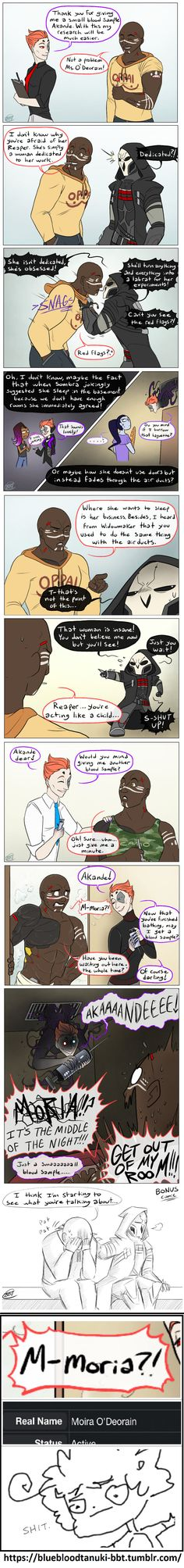 Overwatch | Doomfist meets Moira \ rest in peace, Akande. if Moira doesn't keep you from it, that is