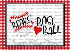 Bears Baseball SVG love htv T shirt Design Vinyl  SVG and DXF Files Electronic Cutting Machines, Silhouette, Cameo, Cricut, Instant Down by SweeterThanOthers on Etsy