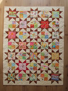 The pattern is Plan C from the book Schnibbles times two, by Carrie Nelson. From The Quilt Board.