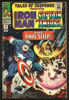 Tales To Astonish #74 Iron Man Capt America Comics Jack Kirby Final Sleep S LEE