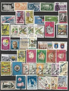 COLOMBIA COLL OF 44 DIFFERENT 1956-1964 USED - http://stamps.goshoppins.com/latin-american-stamps/colombia-coll-of-44-different-1956-1964-used/