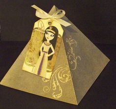 Egyptian-theme tag and pyramid box, info on website - Direct link. Vbs Themes, Dance Themes, Party Themes, Party Ideas, Egyptian Themed Party, Joseph In Egypt, Egyptian Wedding, African Babies, Egypt Art