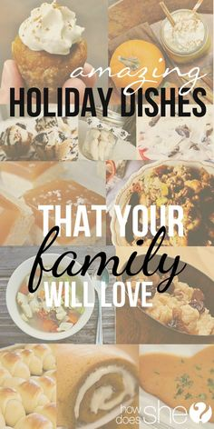 Food and Drink.  Amazing Holiday Dishes Your Family will Love #holidaydishes