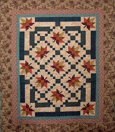 Quilt Fall Leaves are Falling Quilted Throw by HollysHutch on Etsy, $275.00
