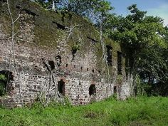 Bunce Island off Sierra Leone, ruins of the slave trade, a sad but important time in history.