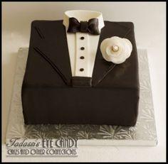 Tuxedo Grooms Cake | SHIRTS &