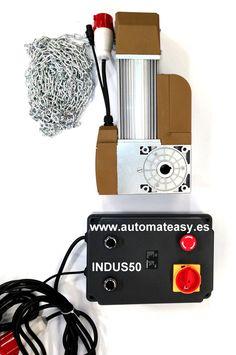 Motor de puerta seccionada industrial. INDUS 50  www.automateasy.es