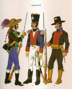 Spanish; Voluntarios Granadinos, Volunteer, Regiment de Guadix Officer 1810 & Regiment of Baza Fusilier 1808-09
