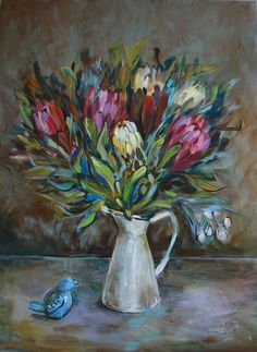 """Proteas"" by Katerina Apale. Paintings for Sale. Bluethumb - Online Art Gallery"