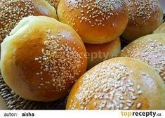 Housky na hamburger recept - TopRecepty.cz Mini Hamburgers, Bread And Pastries, Food And Drink, Pizza, Cooking, Recipes, Pains, Projects, Food
