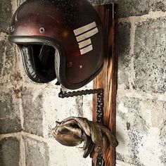.Not sure if this is a lamp or just a hanger for your helmet? It's cool though!!!