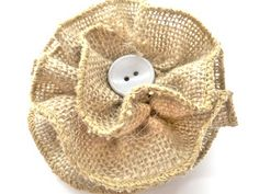 How to make a burlap flower Burlap Projects, Burlap Crafts, Fabric Crafts, Sewing Crafts, Craft Projects, Burlap Roses, Burlap Lace, Burlap Flower Tutorial, Handmade Flowers