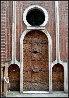 Art Nouveau Door In Ghent – Belgium