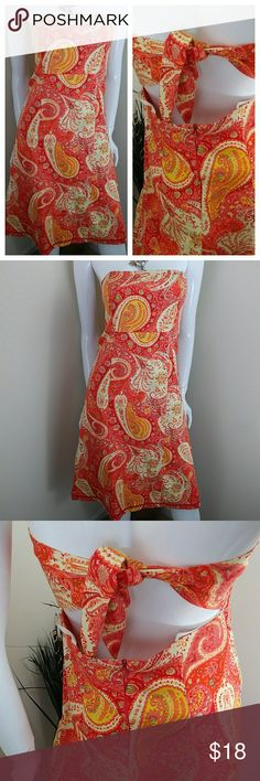 "⚡1HRSALE⚡Moda International Strapless Summer Dress Rock this fab dress this summer...lovely print...details is life for the season...lovely cut at the back which ties to give a flattering chic effect.  Summer must have...condition. Excellent no marks or stains Length ""34"" Armpit to Armpit""17"" Moda International Dresses Mini"
